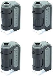 Carson MicroBrite Plus 60x-120x - Microscopio de bolsillo con luz led con sistema de lente asférica.