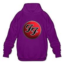 WYBU Men's Foo Fighters Long Sleeve Sweater Size XXL Purple,100% Organic Cotton