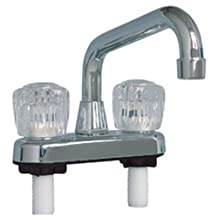 LASCO 07-0960 Laundry Tub Faucet with Two Handles, Chrome Finish