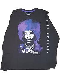 Jimi Hendrix Black Long Sleeve Graphic T-Shirt