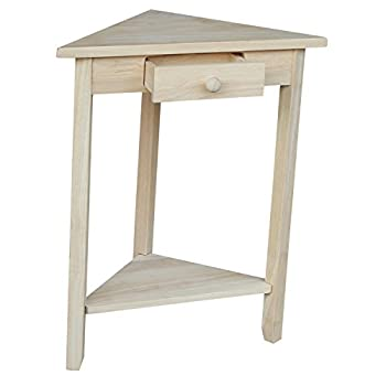 International Concepts OT-95 Corner Accent Table, Unfinished