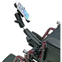 Wheelchair Rail and Tube Mount with Extension and Dedicated iPhone 6 (4.7) Cradle ( sku 21258)