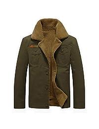 liliko Men's Pullover Winter Jackets Hoodies Wool Warm Thick Coats