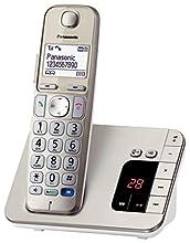 Panasonic KX-TGE220 - Teléfono (Teléfono DECT, 50 entradas, Identificador de Llamadas, Champán) [versión importada]