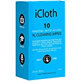 iCloth Lens and Screen Cleaner | Pack of 10 Bundle, for use on Laptop and Desktop Screens, Touchscreen Monitors, Automotive Displays, Aviation Displays and More - iCXL10