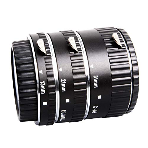 Mcoplus Extcm Auto Focus Metal Macro Extension Tube Set for Canon EOS EF EF-S SLR Cameras