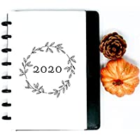 2020 Monthly Calendar Refills for Discbound Planner Fits with Circa Junior Calender, Arc by Staples, TUL Junior Calender, HALF Letter Size (5.5'' x 8.5''), 2020 Circa, 2020 Refill