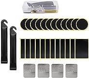 30 Pcs Bike Tire Patch Repair Kit, Portable Storage Box, Glueless Self-Adhesive Bike Tire Patches, Bicycle Tir