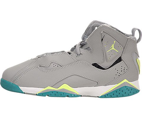 5b35558a9abf4f ... clearance air jordan true flight preschool wolf grey volt ice turbo  green 086c3 d2953