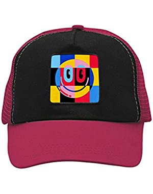 Unisex Galore Smile Emoji Trucker Hat Adjustable Mesh Cap