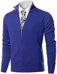 "<span class=""a-offscreen"">[Sponsored]</span>Men's Classic Zip Up Mock Neck Basic Sweater Top"