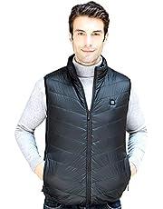 JuguHoovi Electric Heated Vest,Lightweight Washable Heated Winter Clothin Black