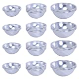 Onepine 32 Pieces Metal Bath Bomb Molds 16 Set 3 Sizes DIY Metal Mold for Homemade Bath Bombs and Crafting Your Own Fizzles (32 Pieces / 16 Set)
