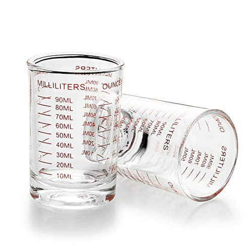 Measuring Cup Shot Glass 3 Ounce/90ML Liquid Heavy Glass (1)