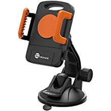 TaoTronics Car Phone Mount, Windshield/Dashboard Universal Mobile Phone Cradle for iOS/Android Cell Phone - Orange