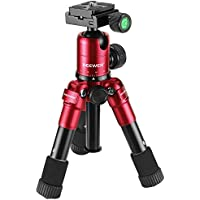 Neewer 20 inches/50 centimeters Portable Compact Desktop Macro Mini Tripod with 360 Degree Ball Head,1/4 inches Quick Shoe Plate,Bag for DSLR Camera,Video Camcorder,up to 11 pounds/5 kilograms Red