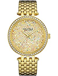 Womens 44L184 Swarovski Crystal Gold Tone Watch