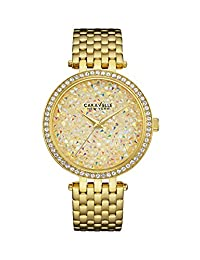 CARAVELLE NEW YORK Women's 44L184 Analog Display Quartz Gold Watch