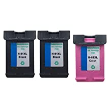 YDINK Remanufactured Black / Color Ink Cartridge 3 Pack Replacement for HP 61XL HP61XL CH563WN CH564WN fit HP Printers Deskjet 1050 3050 3050A Envy 4500 5530 OfficeJet 2620 8040
