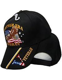 Vietnam Veteran Era Vet Eagle Black Cap 3D Embroidered Cap 410C