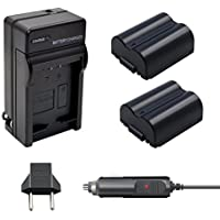 Bonacell 2 Pack CGA-S006E/DMW-BMA7 Battery 1500mAh and Battery Charger Kit for Panasonic Lumix DMC-FZ7, DMC-FZ8, DMC-FZ18, DMC-FZ28, DMC-FZ30, DMC-FZ35, DMC-FZ38, DMC-FZ50 Digital Camera