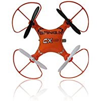 BangK CX-14 Mini 4CH 2.4GHz 6 Axis Gyro R/C RTF Helicopter, UFO Micro Quad Copter (Orange)