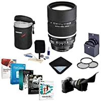 Nikon 135mm f/2 AF-D DC NIKKOR Lens Bundle With Filter Kit, Lens Case, Lens Shade, Lens Wrap, Cleaning Kit, Professional Software Package