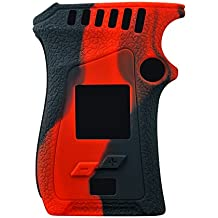 Smok MAG 225W Silicone Protective Gel Wrap Skin Case Sleeve Cover Fits MAG 225 Watt (Red/Black)