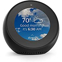 Amazon Echo Spot Bluetooth Speaker with Amazon Alexa (Black)