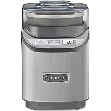 Cuisinart ICE-70 Electronic Ice Cream Maker, Brushed Chrome