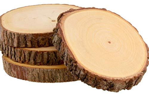 T one woods Round DIY Craft Wooden Log Natural Bark Coaster/Slices, 3 Inches Size – Set of 6 Price & Reviews
