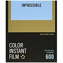 """Impossible Project 9120066085269 Color Film with Gold Frame for Polaroid 600 Type Cameras, 0.79 x 3.94 x 4.72"""""""