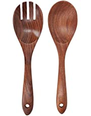 Wood Fork -Acacia Wood Fork and Spoon Set Salad Toss and Mix Servers Cooking Spoon Spork Set