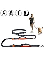 Hands Free Dog Leash, Horuhue Retractable Dog Leash Running with Dual Bungees for Medium and Large Dogs, Adjustable Waist Belt Reflective Stitching Leash for Running Walking Hiking Jogging Biking