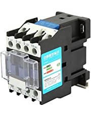 AC Contactor, CJX2-1210 12A Rail Mount Contactor Industrial Electric Contactor for Power, Distribution and Power Applications