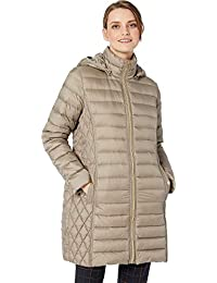 Womens Zip Front 3/4 Packable with Hood M823687G32