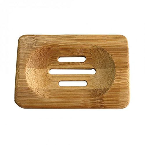 Nynoi soap holder thick case bathroom Natural Bamboo Wooden Soaps