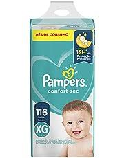 Fralda Pampers Confort Sec XG 116 Unidades, Pampers