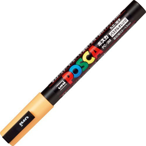Mitsubishi Pencil POSCA natural color fine pastel Japan Naranja PC 3MP.4 3 Japan pastel 21b123