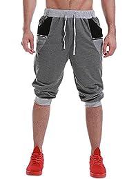 Men's Shorts Pants Running Sweatpants Cotton Joggers Slim Fit Tracksuit