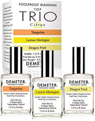 Demeter Fragrance Library Citrus Foolproof Blending Set-3 Unique 1 oz Cologne Sprays - Baby Shampoo, New Baby, Clean Soap