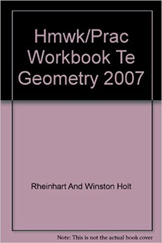 homework and practice workbook holt geometry
