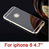Hot Fashion Soft Clear Tpu Protective Phone Cases For Iphone6 6S 6 Plus Electroplating Mirror Cover Luxury For Iphone 6 Case-I6 Silver