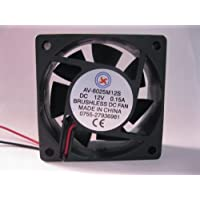 2 pcs Brushless DC Cooling Fan 12V 6025S 7 Blades 2 wire 60x60x25mm Sleeve-bearing Skywalking