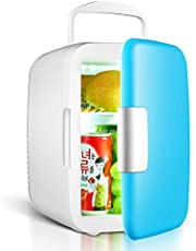 ETbotu Portable 4 L/6 pcs 12-oz. Cans 25 dB Running Sound Car Use Mini Fridge Cooler and Warmer with 1.9M Power Cord