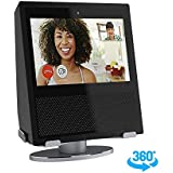 Premium Stand Holder for Echo Show, 360 Degree Rotating Secure Aluminum Base Mount, Low Profile Design with Stable Rubber Non-Scratch Base for Alexa Show - Black