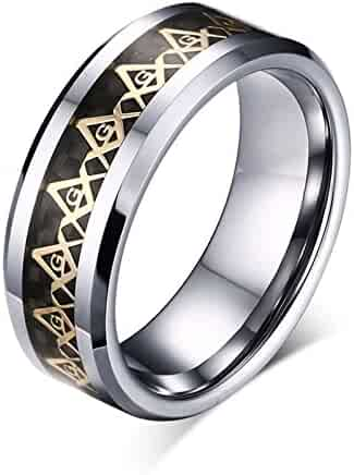 Thorsten Addison Celtic Knot Design Print Pattern Ring Flat Tungsten Ring 12mm Wide Wedding Band from Roy Rose Jewelry
