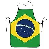 Flag Of Brazil Kitchen Apron Waterproof Adult