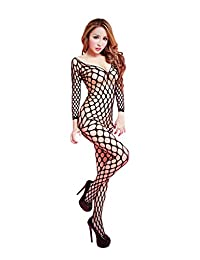 Gnews Black Bodystockings Body Stockings Bodysuit Lingerie Fishnet Open Crotch