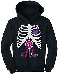 TeeStars - Pink Candy Skeleton - Halloween Kids Toddler Hoodie